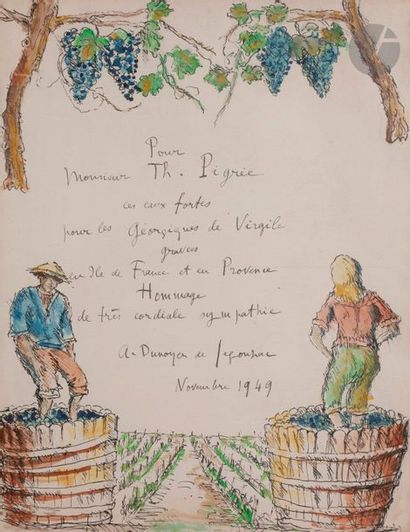 André DUNOYER DE SEGONZAC (1884-1974) Les...