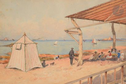 Paul LECOMTE (1877-1950) Saint-Énogat, bord...