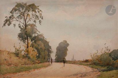 Paul LECOMTE (1842-1920) Route de Courteuil...