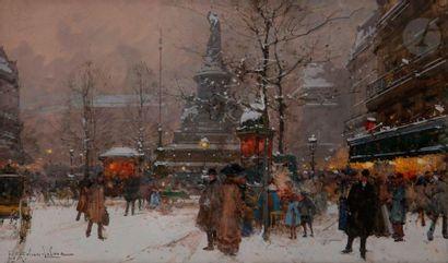 Eugène GALIEN-LALOUE (1854-1941) La Place...