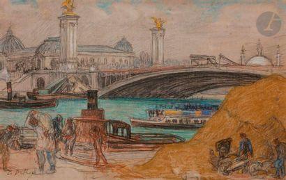Léon DETROY (Chinon 1859 - 1955) Vue animée...