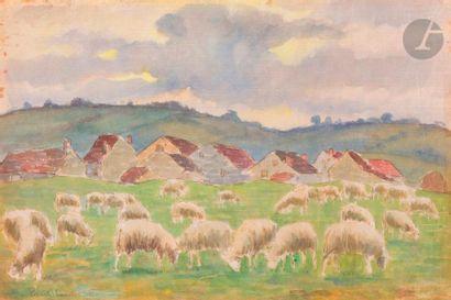 Paul-Émile PISSARRO (1884-1972) Moutons au...