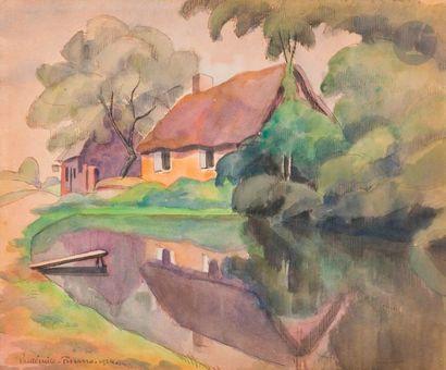 Paul-Émile PISSARRO (1884-1972) Maison au...