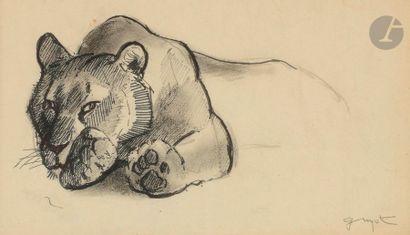 Georges-Lucien GUYOT (1885-1973) Étude de...