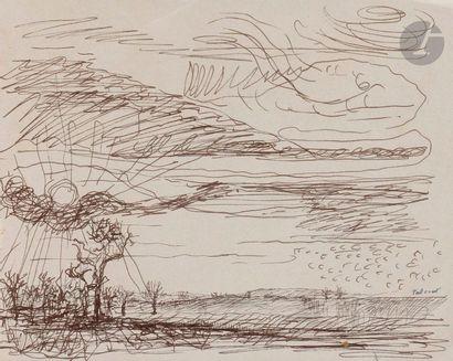 Pierre Jacob dit TAL-COAT (1905-1985) Paysage...