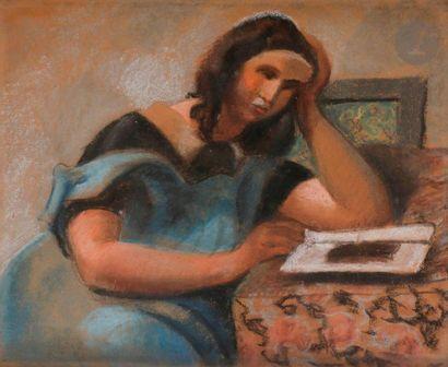 Roger BISSIÈRE (1886-1964) Jeune fille à...