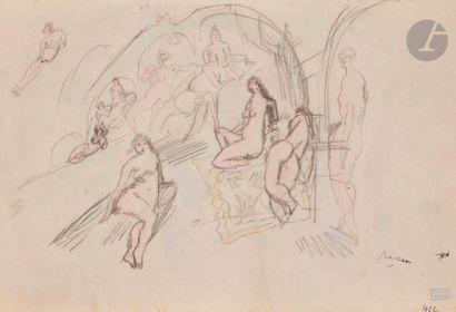 J. Pincas dit PASCIN (1885-1930) Baigneuses,...