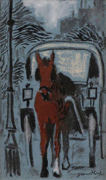 Jean HUGO (1894-1984) La Calèche, 1948 Encre...