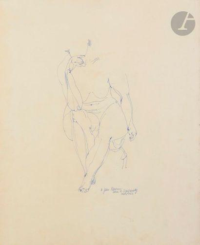 Sam SZAFRAN (1934-2019) Nu, 1958 Encre. Signée...