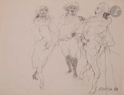 Claude WEISBUCH (1927-2014) Personnages Mine...