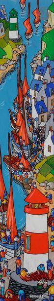 Bruno TREMOHARS (né en 1955) La Ria de Doelan,...
