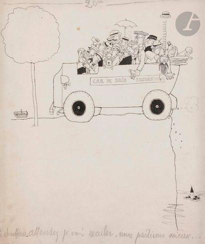 Albert DUBOUT (1906-1978) Chauffeur, attendez,...