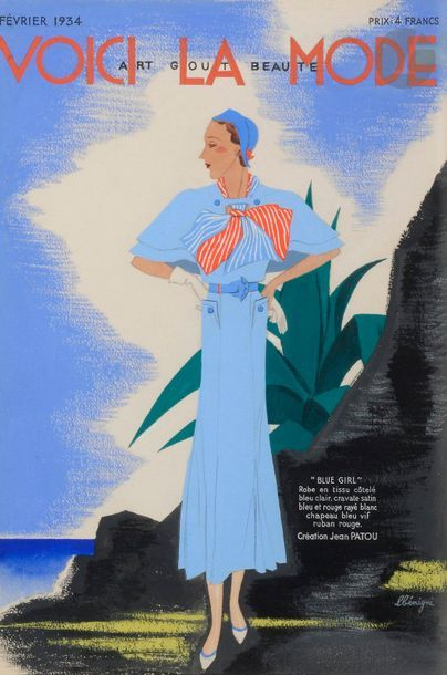 Léon BENIGNI (1892-1948) Blue girl de Jean...