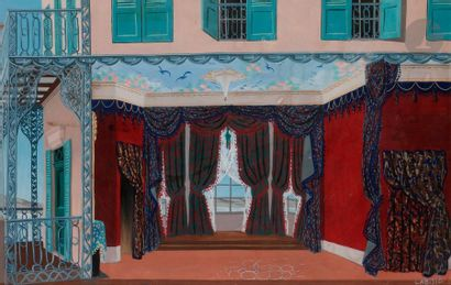 Félix LABISSE (1905-1982) Maquette de décor...