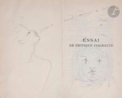 Jean COCTEAU (1889-1963) Homme de profil,...