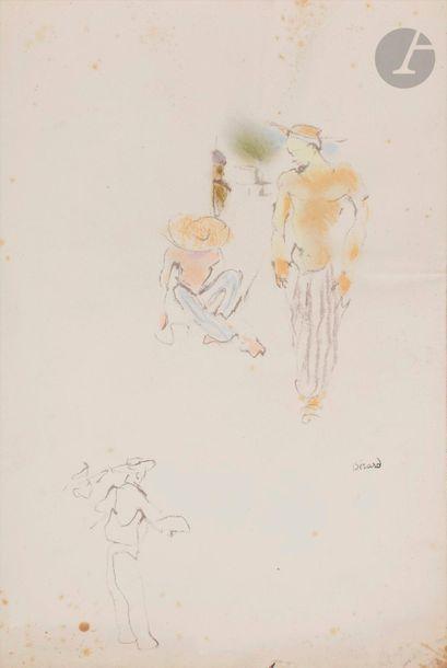 Christian BÉRARD (1902-1949) Deux hommes...