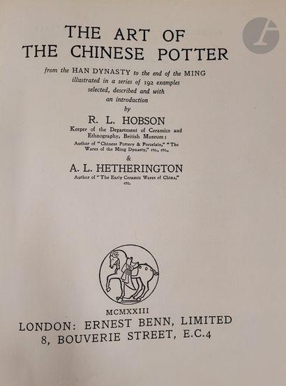 [CHINE - CÉRAMIQUE] Six ouvrages: - Hobson...