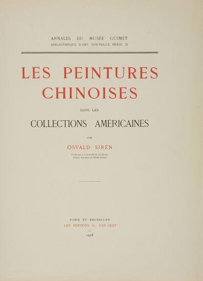 Osvald SIREN Les Peintures chinoises dans...