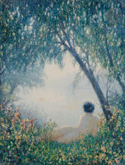 Raymond THIBÉSART (1874-1968) Matin vaporeux,...