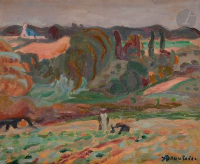 Adolphe-Marie BEAUFRÈRE (1876-1960) Paysannes...