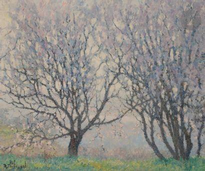 Raymond THIBÉSART (1874-1968) Arbres en fleurs...