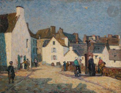 Raymond THIBÉSART (1874-1968) Douarnenez...