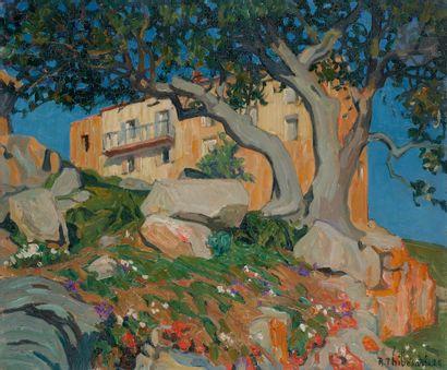 Raymond THIBÉSART (1874-1968) Corse, Piana,...