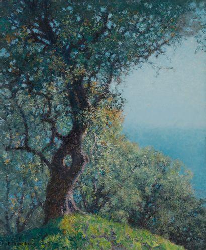Raymond THIBÉSART (1874-1968) Baie de Villefranche,...