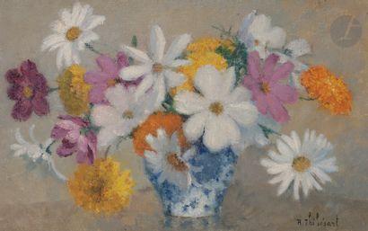 Raymond THIBÉSART (1874-1968) Bouquet Huile...