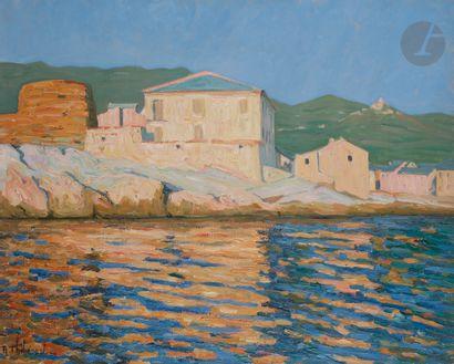 Raymond THIBÉSART (1874-1968) Centuri, Cap...