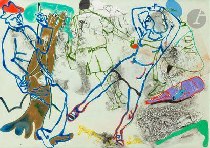 Gérard GUYOMARD (né en 1936) Paysage de chute,...