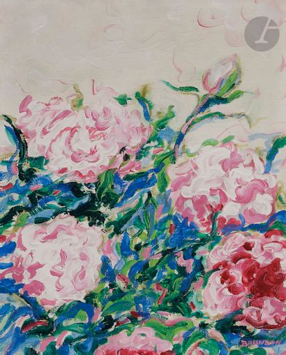 Frédéric BRANDON (né en 1943) Fleurs, vers...
