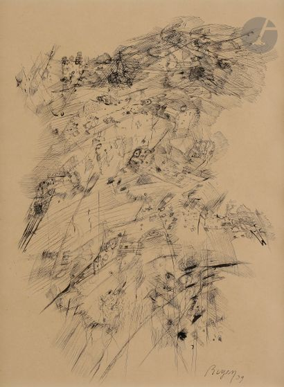 Camille BRYEN (1907-1977) Composition abstraite,...