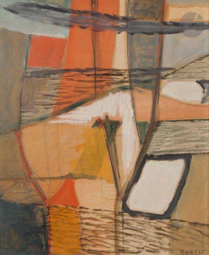 Paul BERCOT (1878-1970) Composition Huile...