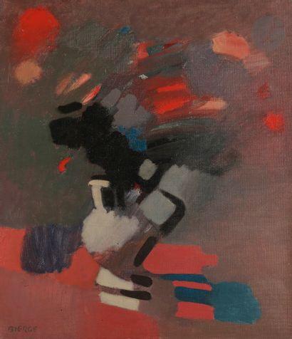 Roland BIERGE (1922-1991) Bouquet, 1967 Huile...
