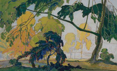 Georges de FEURE (1868-1943) Paysage, vers...