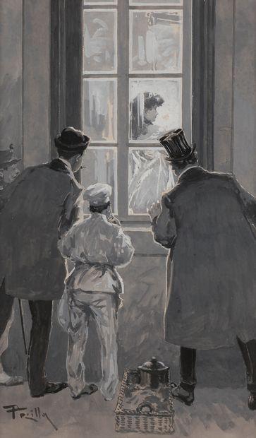 Mario PEZILLA (actif vers 1900) Les Indiscrets,...