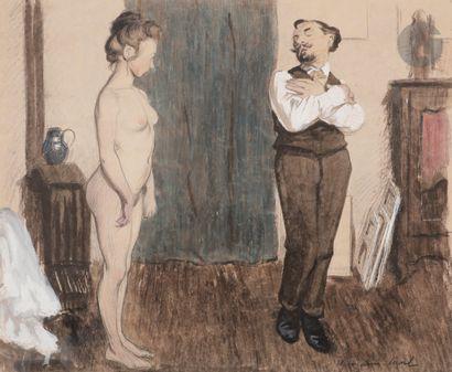 René-Georges Hermann, dit HERMANN-PAUL (1864-1940)...