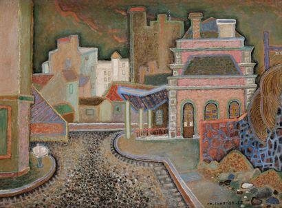 Alex-Charles CHARTIER (1894-1957) La Gare...