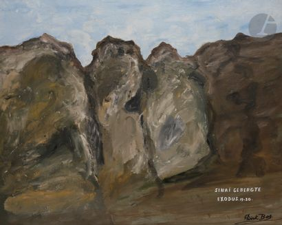 Dirk BOS (1890-1976) Le Mont Sinaï Huile...