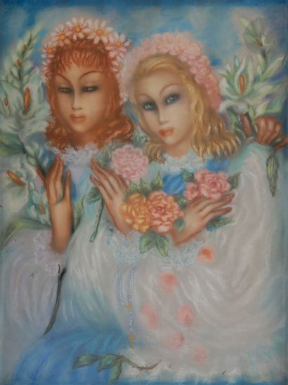 Hélène PERDRIAT (1894-1969) Les Deux sœurs...