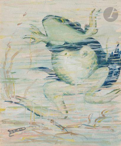 Ferdinand DESNOS (1901-1958) Amphibiens Aquarelle...