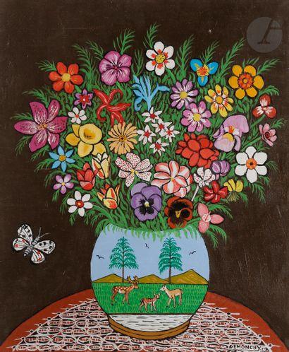 André DEMONCHY (1914-2003) Bouquet et vase...