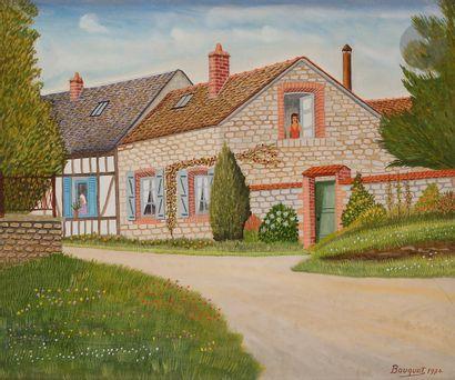 André BOUQUET (1897-1987) Femmes aux fenêtres,...