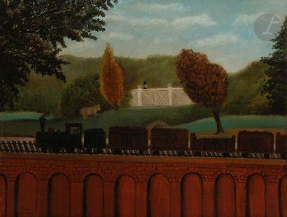 Louis DUCASSE (1881-1939) Le Train à vapeur...