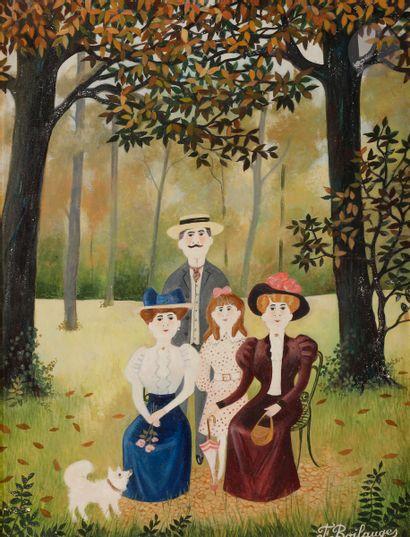 Fernand BOILAUGES (1891-?) Portrait de famille...