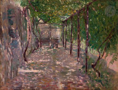 Henri Edmond CROSS (1856-1910) La Treille...