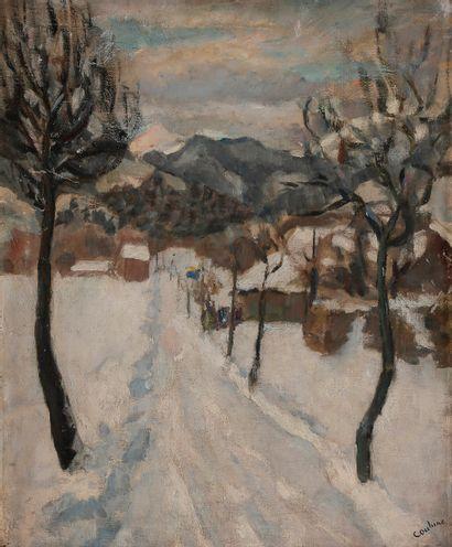 Othon COUBINE (1883-1969) Paysage de neige...