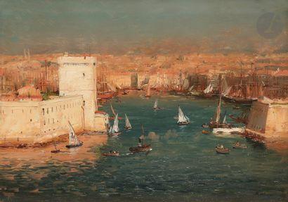 Jean-Baptiste OLIVE (1848-1936) L'Entrée...