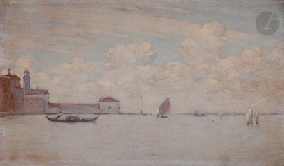 Henri LE SIDANER (1862-1939) Venise, la Lagune,...